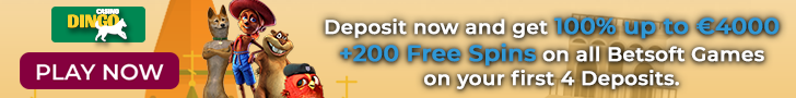 Get Your €4000 Welcome Bonus Package + 200 Free Spins at Dingo Casino